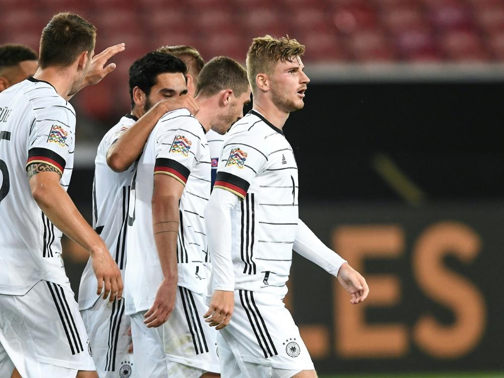 Timo Werner (r.) erzielte den Treffer für die DFB-Elf. ©FIRO/SID