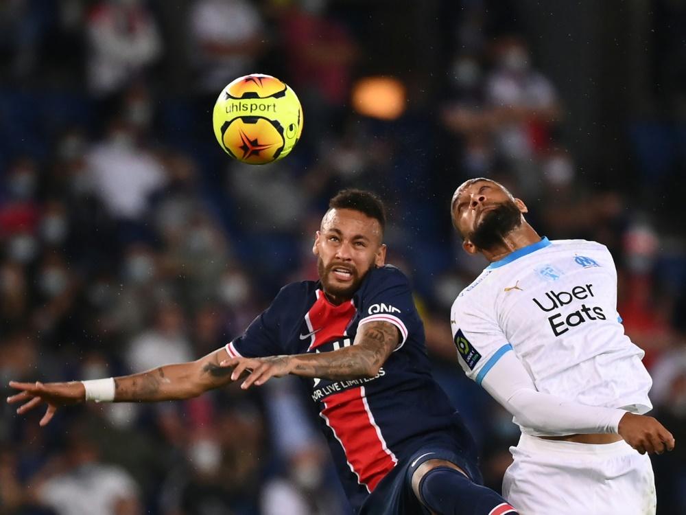 Paris und Marseille lieferten sich ein hitziges Duell. ©SID FRANCK FIFE