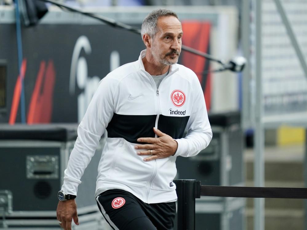 Hütter ist seit Juli 2018 Coach der Eintracht. ©FIRO/SID