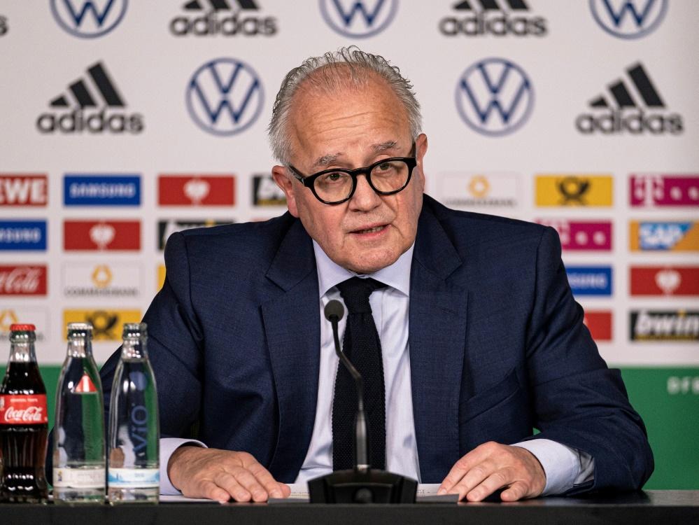 Von der Qualität des DFB-Teams überzeugt: Fritz Keller. ©FIRO/SID