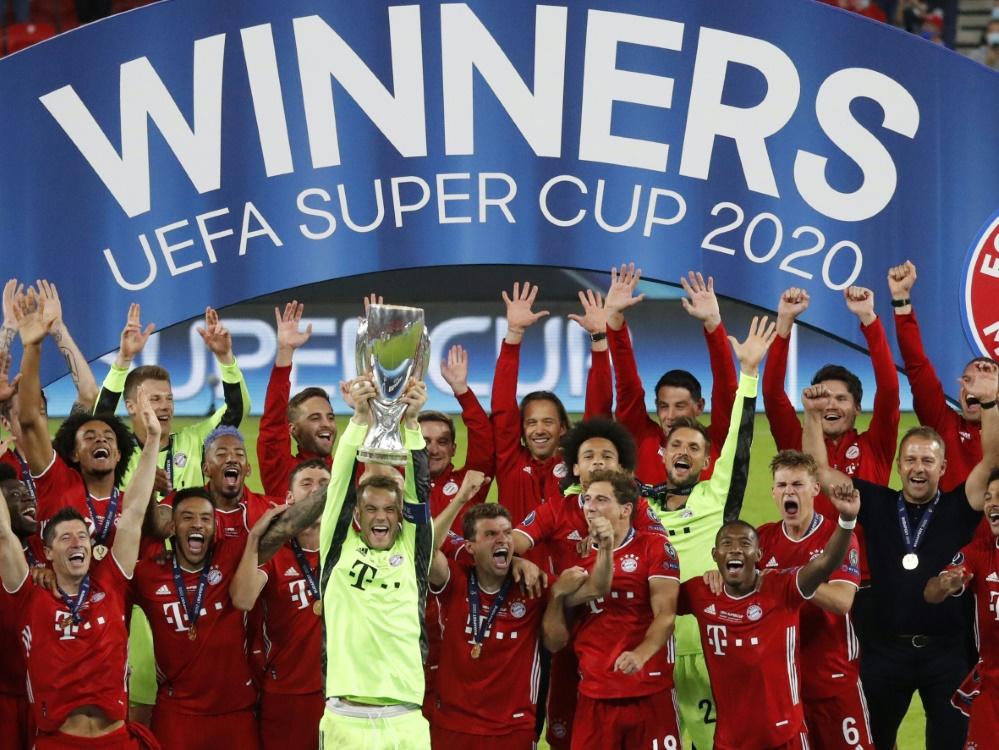 UEFA Super Cup-Sieger Bayern trifft auf Hoffenheim . ©SID BERNADETT SZABO
