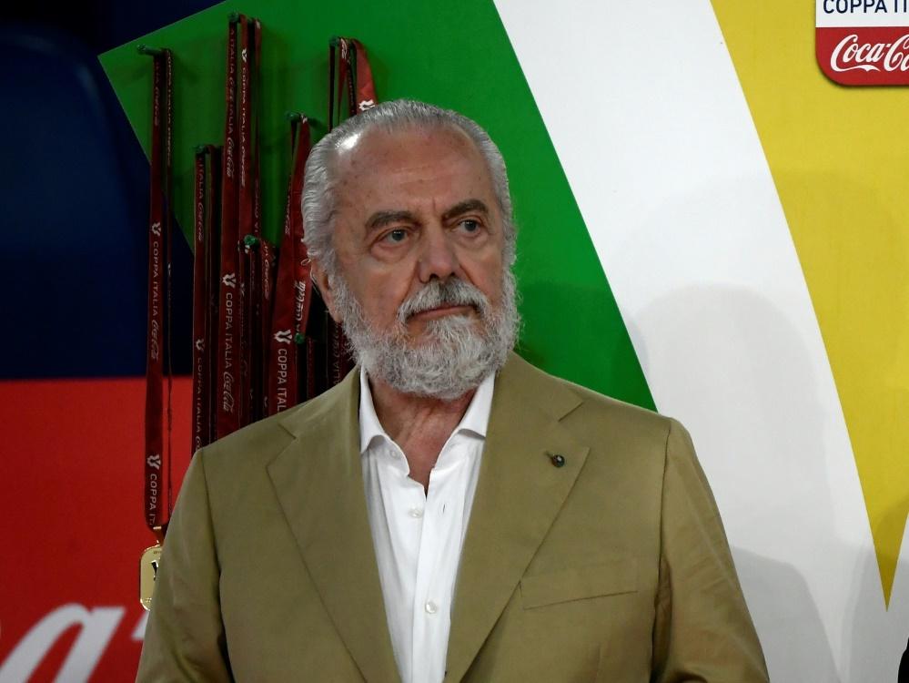 Präsident des SSC Neapel: Aurelio De Laurentiis . ©SID FILIPPO MONTEFORTE