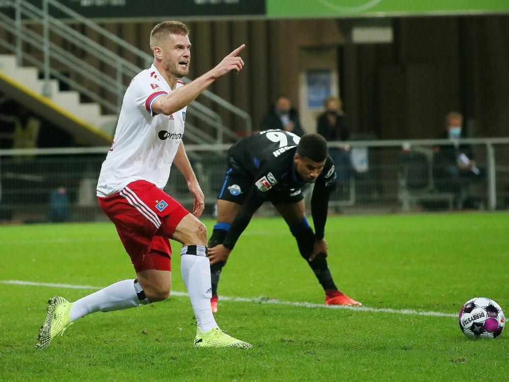 Simon Terodde traf gegen den SC Paderborn doppelt. ©FIRO/SID