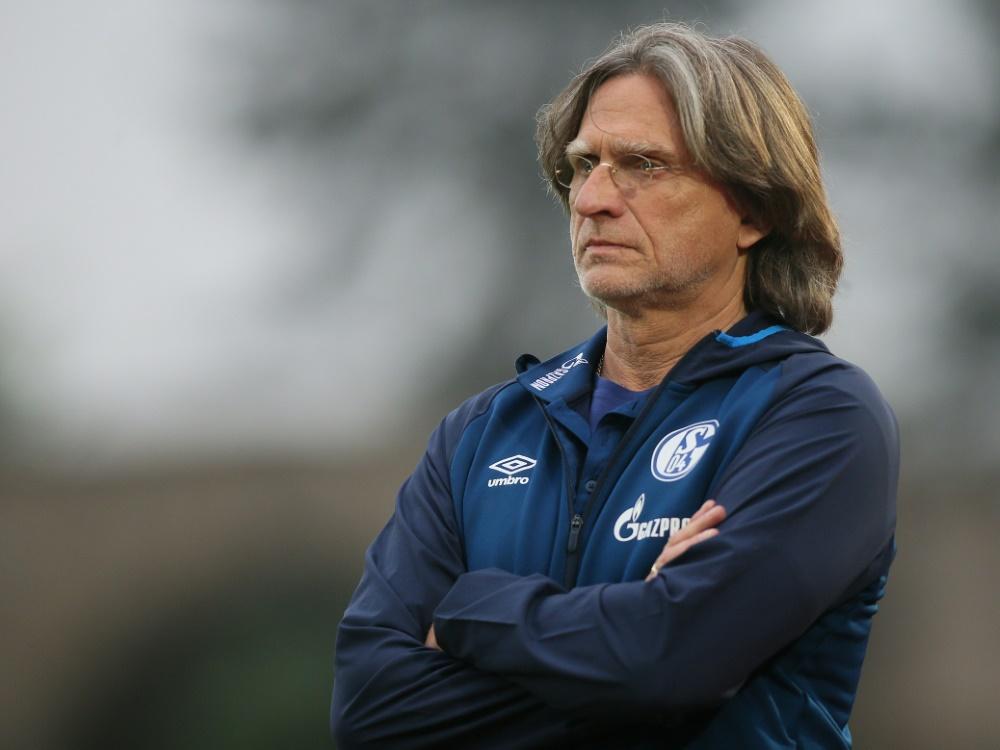 Norbert Elgert ist U19-Trainer der Königsblauen. ©FIRO/SID