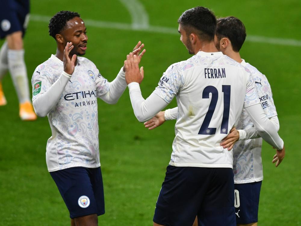 Manchester City zieht problemlos ins Viertelfinale ein. ©POOL/SID PAUL ELLIS