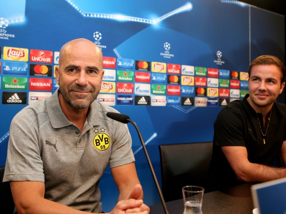 Bosz und Götze arbeiteten bereits beim BVB zusammen. ©FIRO/SID