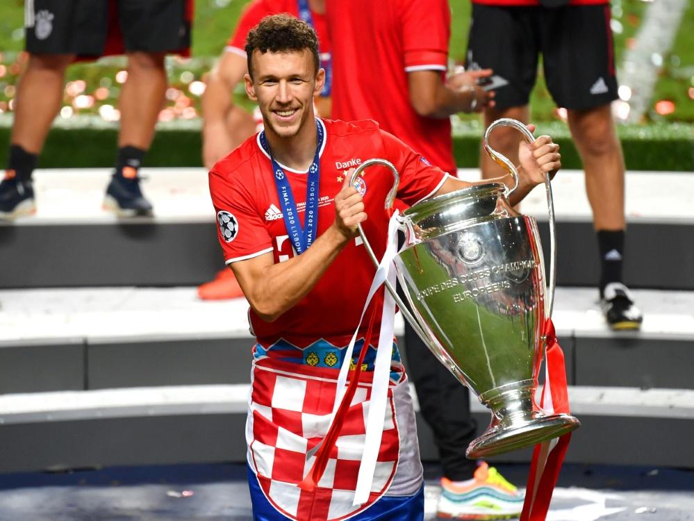 Mit den Bayern gewann Perisic das Triple. ©FIRO/SID