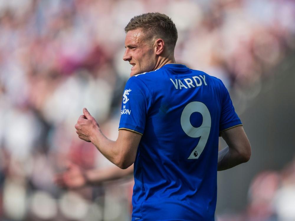 Vardy trifft im Spiel gegen Manchester City dreifach. ©FIRO/SID