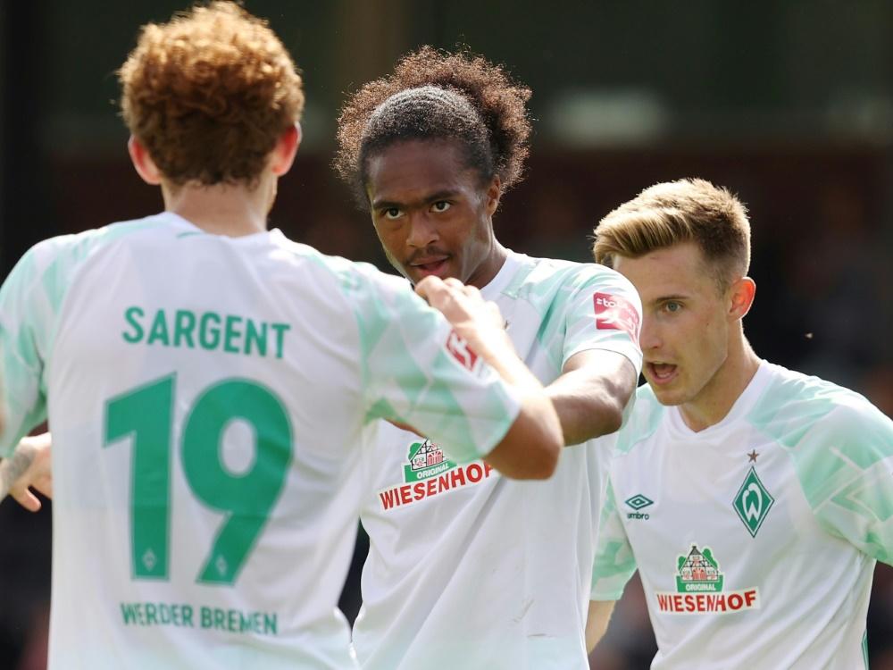 Für Werder erfolgreich: Sargent und Chong . ©FIRO/SID