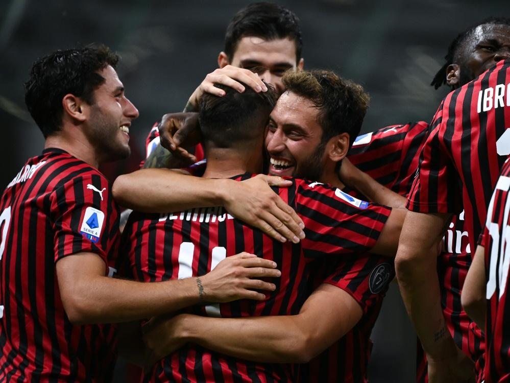 Mailand war am Ende der glückliche Sieger. ©SID MARCO BERTORELLO