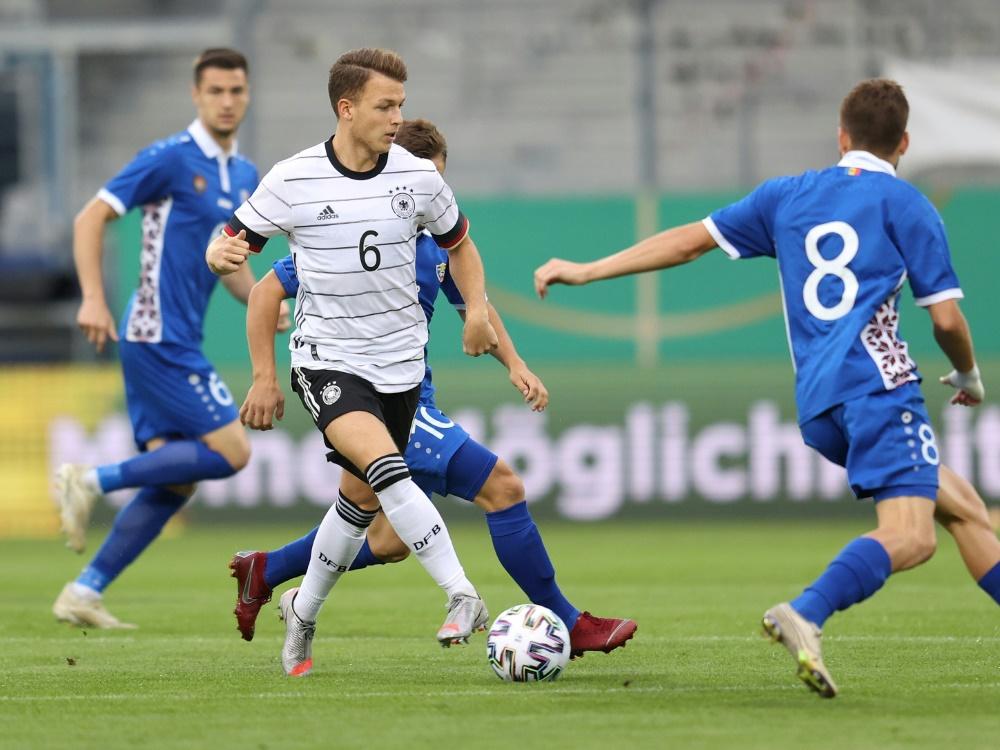 Auch das Rückspiel konnten die Deutschen klar gewinnen. ©FIRO/SID