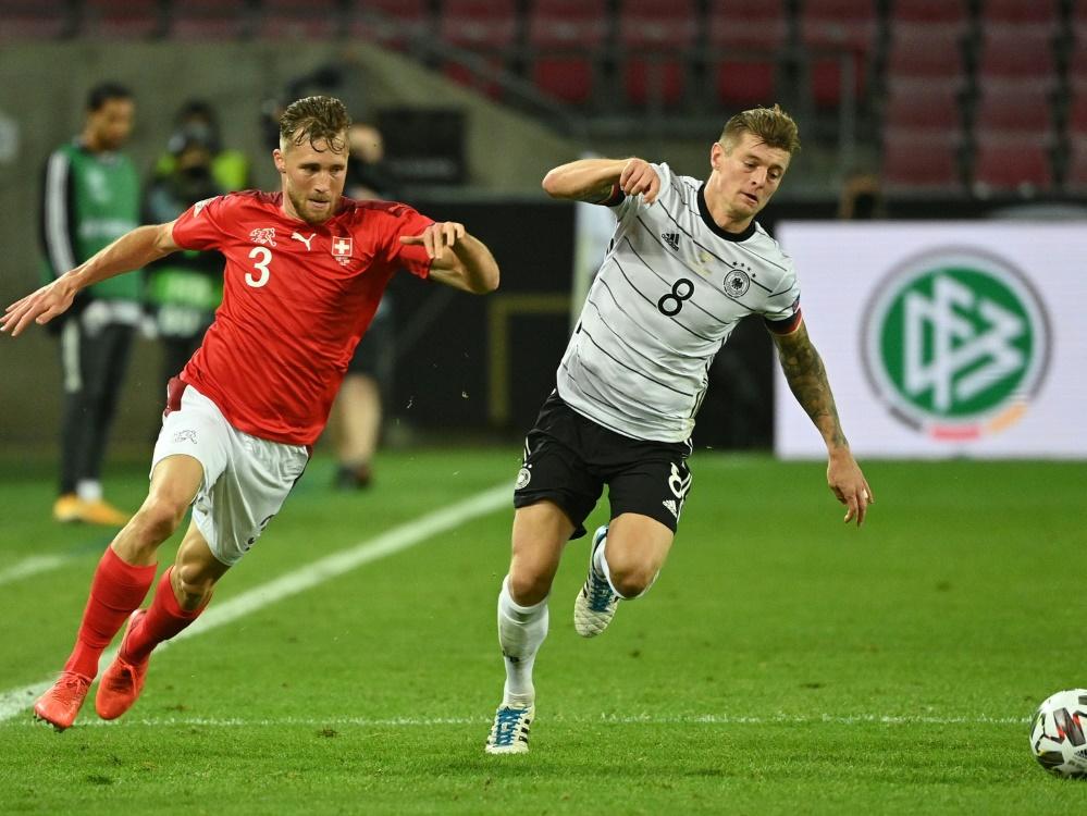 Kroos bestritt gegen die Schweiz sein 100. Länderspiel. ©SID INA FASSBENDER