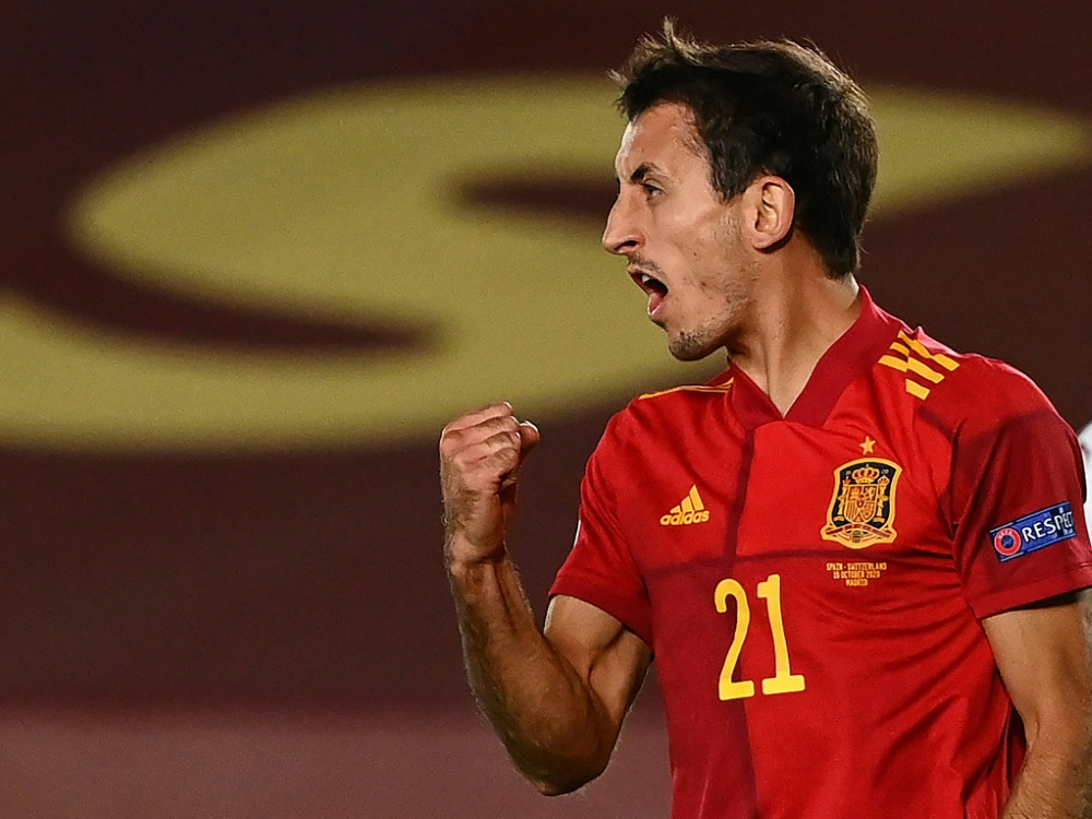 Matchwinner Mikel Oyarzabal trifft für Spanien. ©SID GABRIEL BOUYS
