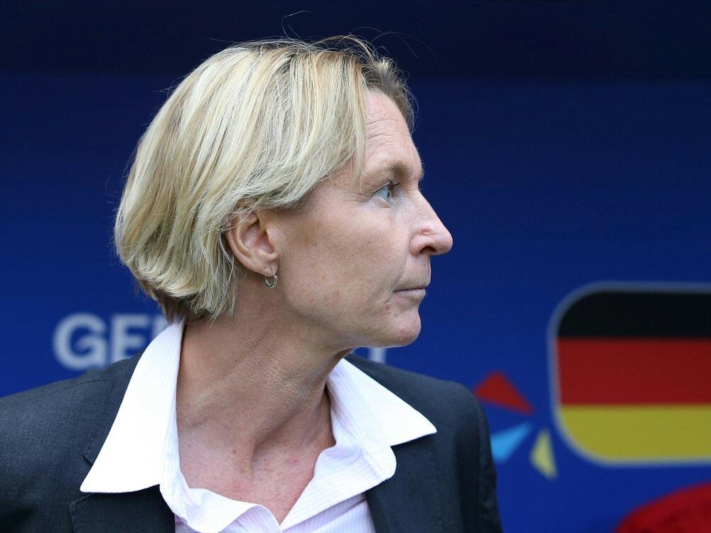 Voss-Tecklenburg will mehr Präsenz für den Frauenfußball. ©FIRO/SID