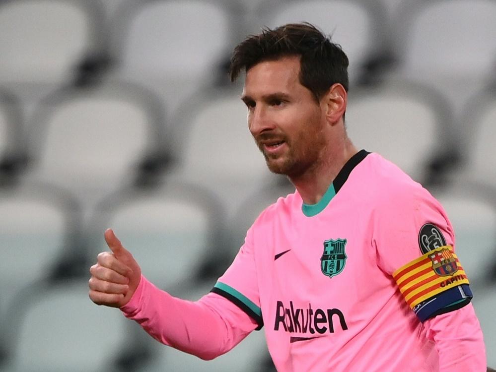 Lionel Messi erzielte gegen Juve seinen 117. CL-Treffer. ©SID MARCO BERTORELLO