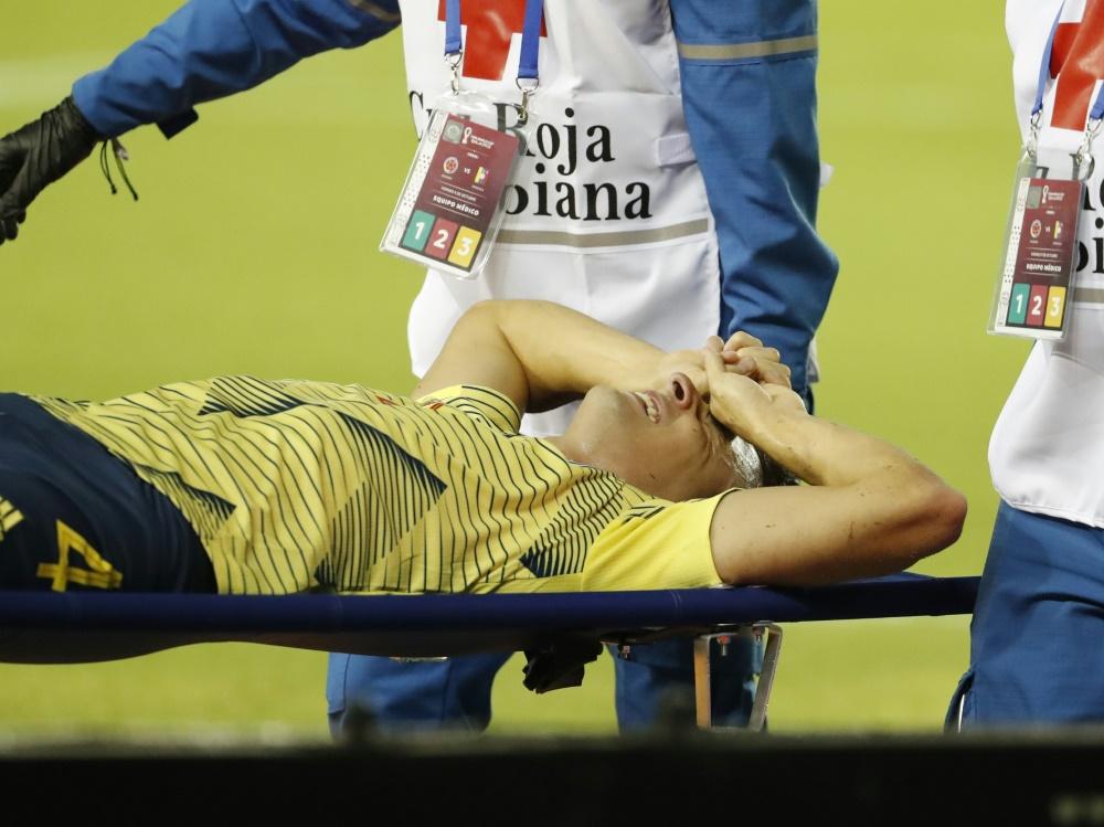 Wadenbeinruch: Santiago Arias fehlt Bayer langfristig. ©SID MAURICIO DUENAS