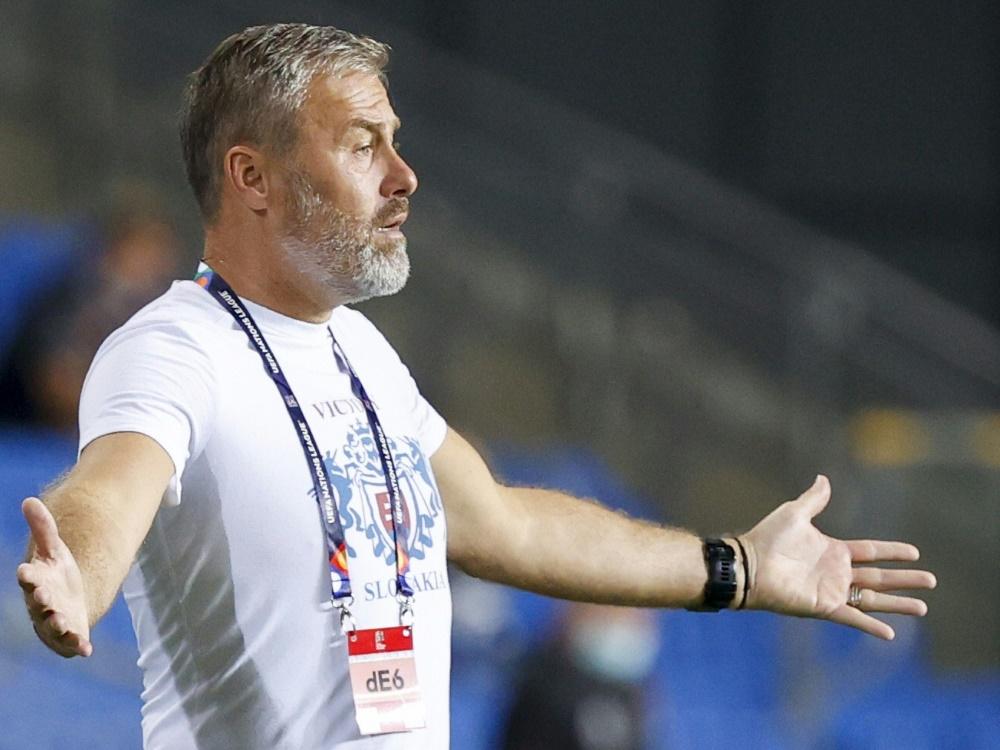 Slowakei: Nationaltrainer positiv auf Corona getestet. ©SID JACK GUEZ