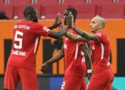 Traumtor von Poulsen: RB beherrscht Augsburg im Topspiel klar