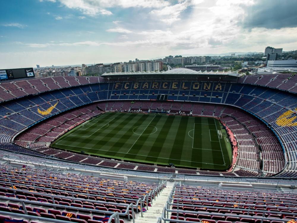 Das Camp Nou ist das größte Fußballstadion Europas. ©FIRO/SID