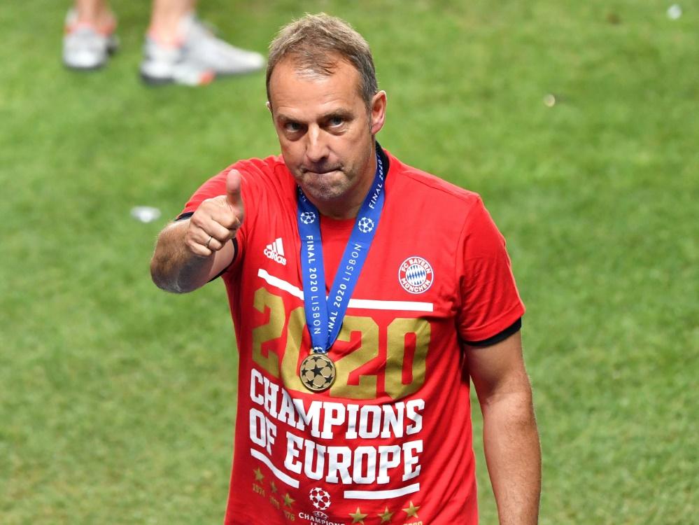 Hansi Flick wurde zum Trainer des Jahres gewählt. ©FIRO/SID
