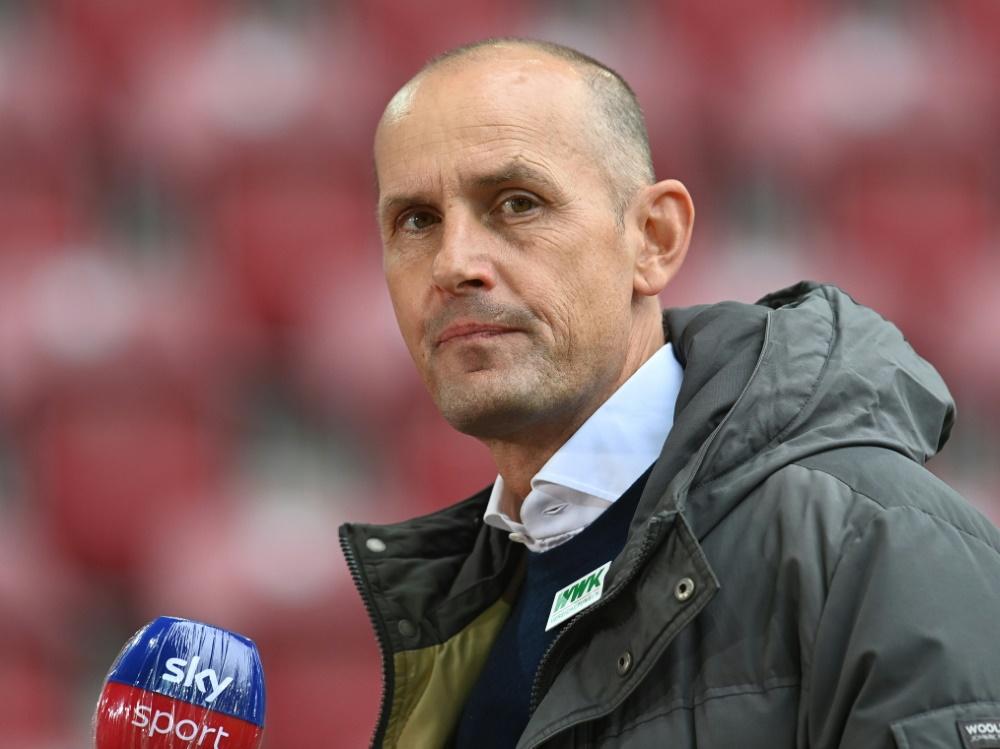 Heiko Herrlich fehlt Augsburg gegen Wolfsburg . ©SID CHRISTOF STACHE