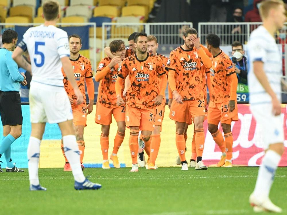 Der italienische Serienmeister gewann 2:0 gegen Kiew. ©SID SERGEI SUPINSKY
