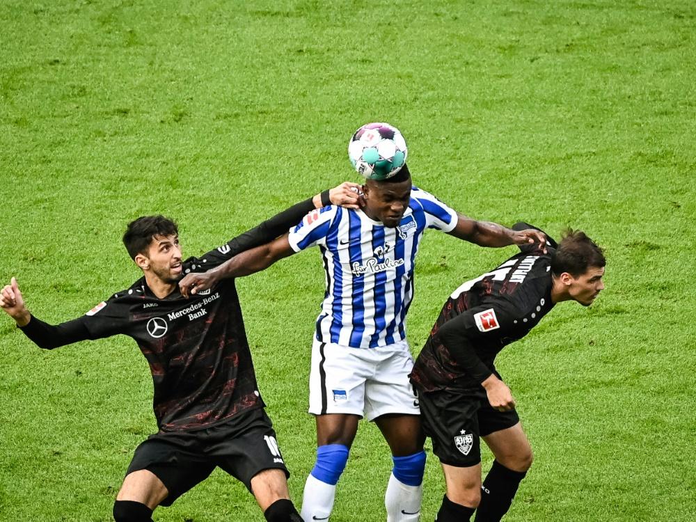 Stuttgart hat Hertha BSC im Griff und gewinnt mit 2:0. ©SID STEFANIE LOOS