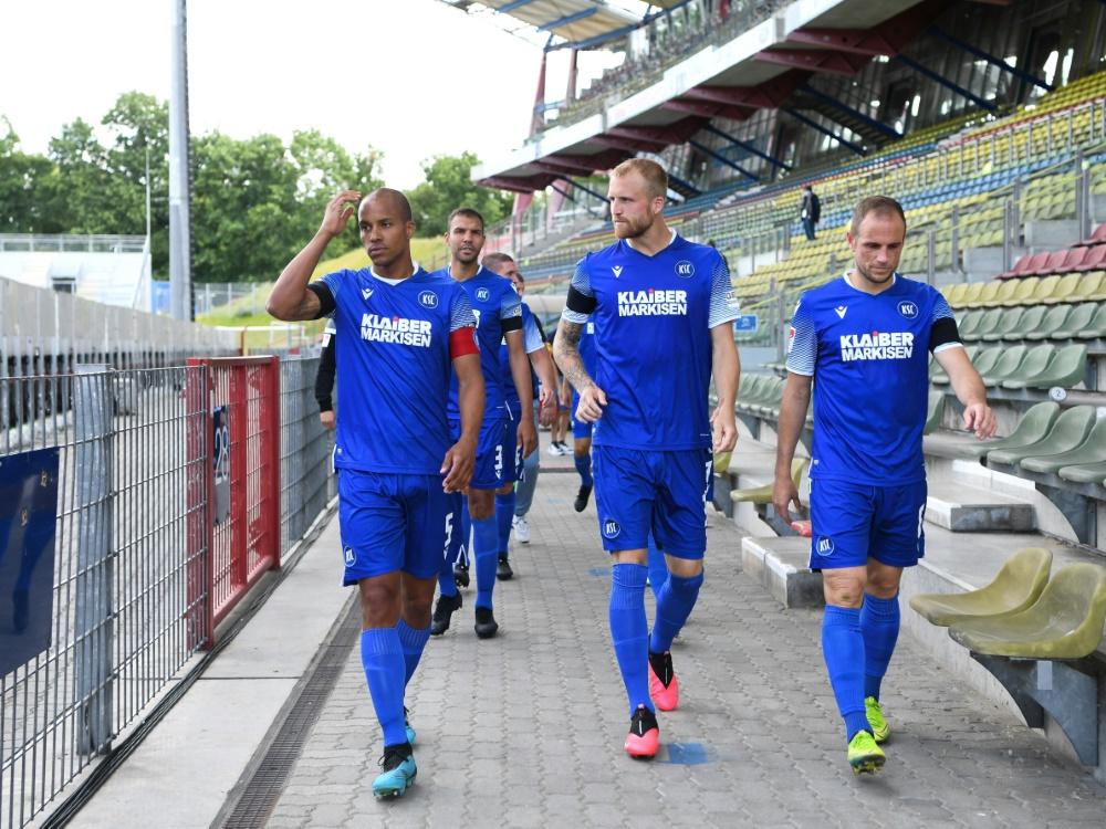 Erstes Tor und erster Sieg für den Karlsruher SC. ©FIRO/SID