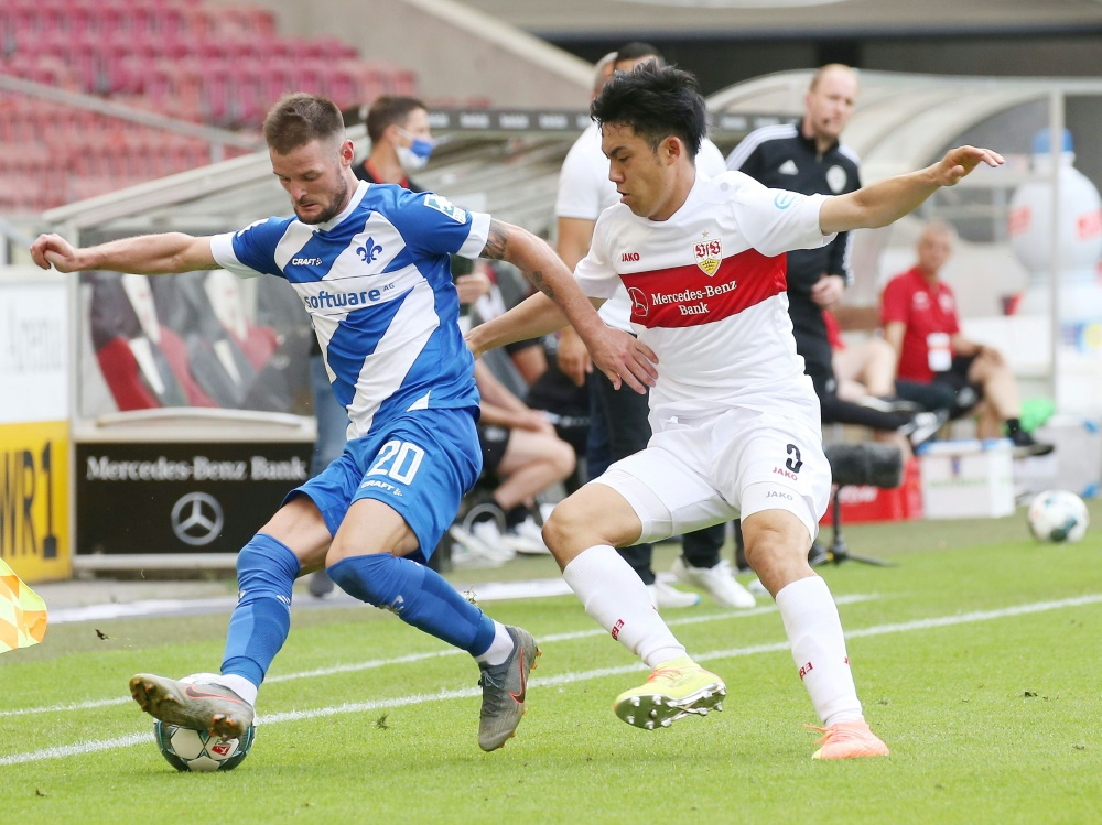 Marcel Heller (l.) setzt Karriere in Paderborn fort. ©FIRO/Pressefoto Baumann/SID