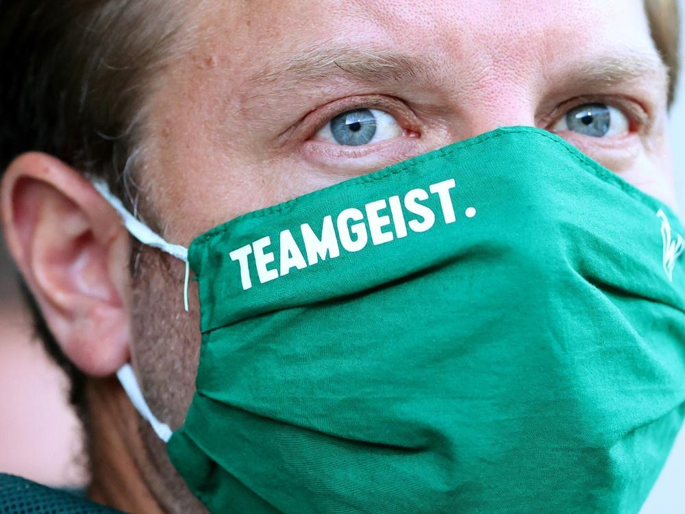 Die Mannschaft von Florian Kohfeldt gewinnt Testspiel . ©POOL/SID