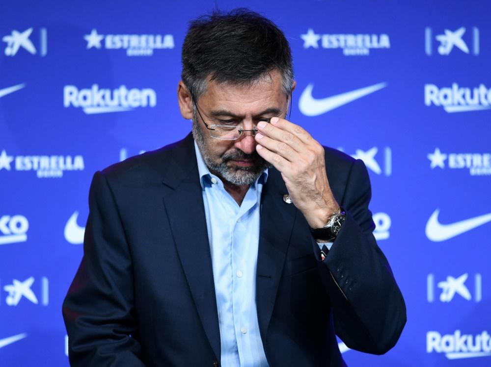 Der Präsident des FC Barcelona steht in der Kritik. ©SID JOSEP LAGO