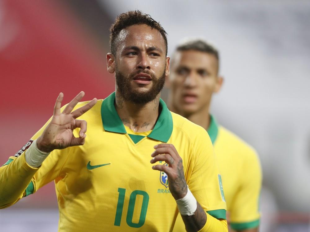 Neymar ist auf Rekordjagd. ©SID PAOLO AGUILAR