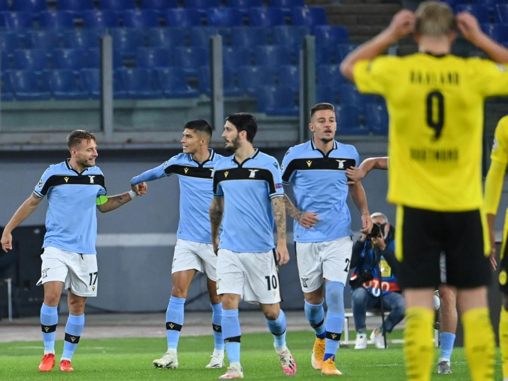 Der BVB verliert zum Champions-League-Auftakt in Rom. ©SID ALBERTO PIZZOLI