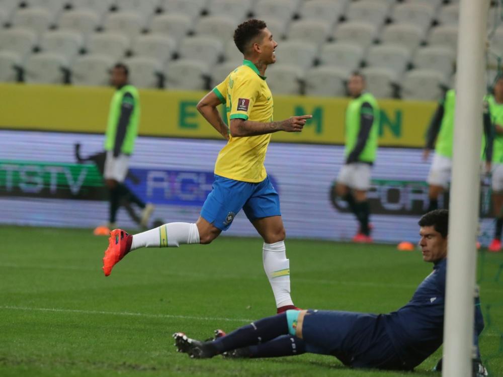 Zwei Tore für Brasilien: Roberto Firmino. ©POOL/SID AMANDA PEROBELLI