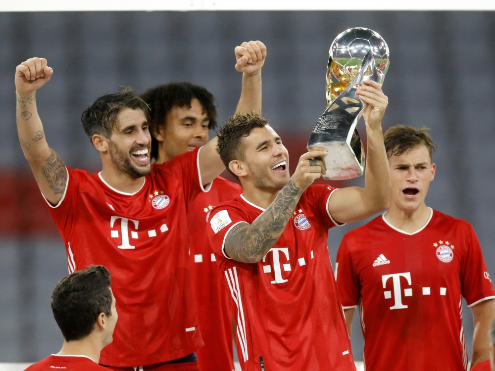 Supercup-Gewinner Bayern München trifft auf Hertha BSC . ©FIRO/SID