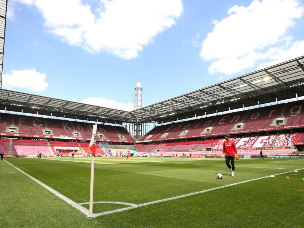 Das Kölner Stadion bleibt wohl auch beim Derby leer. ©SID LARS BARON