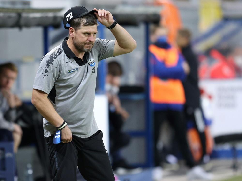 Das Team von Trainer Baumgart bleibt weiter sieglos. ©FIRO/SID