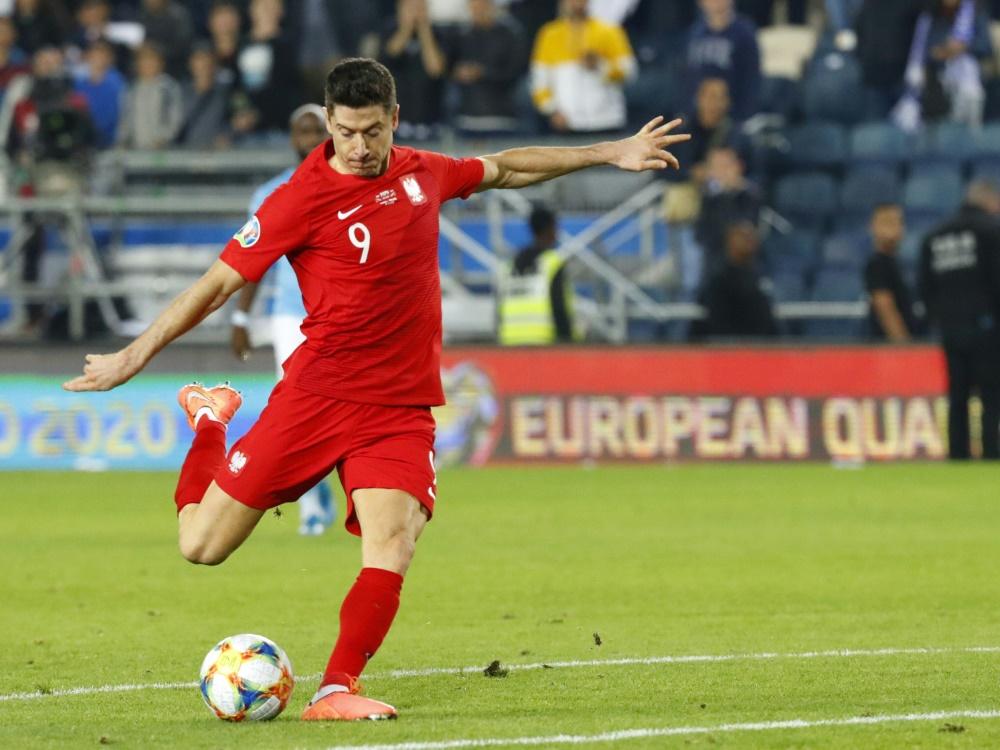 Spielte 0:0 gegen Italien: Robert Lewandowski. ©SID JACK GUEZ