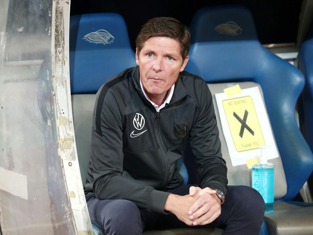 Sein Team ist bisher noch sieglos: Oliver Glasner. ©FIRO/SID