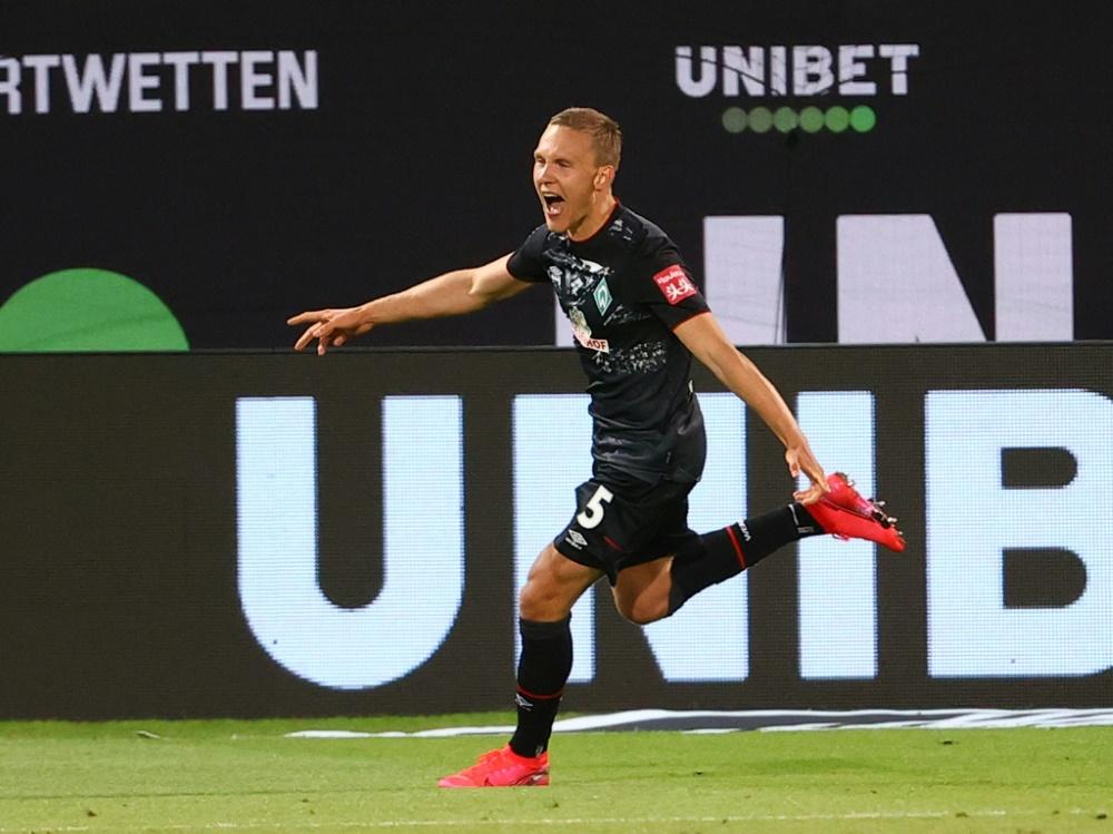 """Ludwig Augustinsson sieht Werder """"gut gerüstet"""". ©SID KAI PFAFFENBACH"""