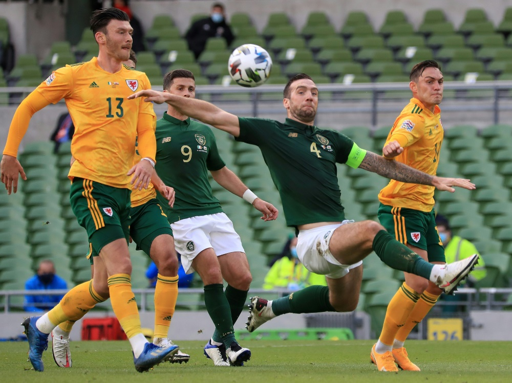 Die Iren erkämpfen sich ein 0:0 gegen Wales. ©SID DONALL FARMER