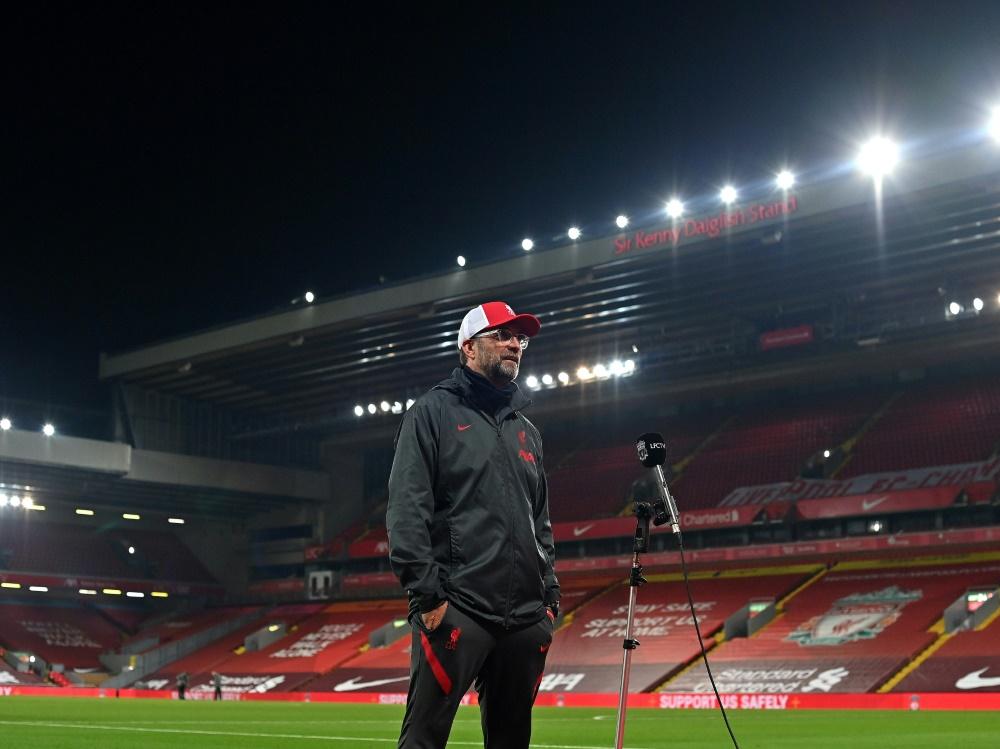 Klopp schied mit Liverpool gegen Arsenal aus. ©SID PAUL ELLIS