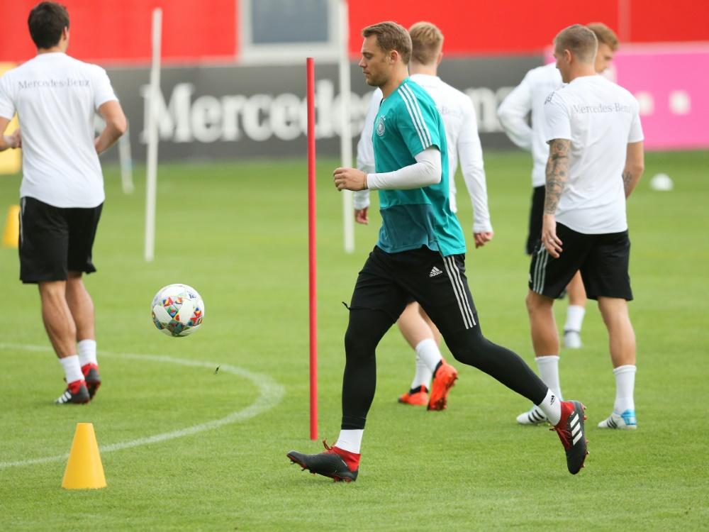 Der Vorbereitungsplan des DFB-Teams bleibt bestehen . ©FIRO/SID
