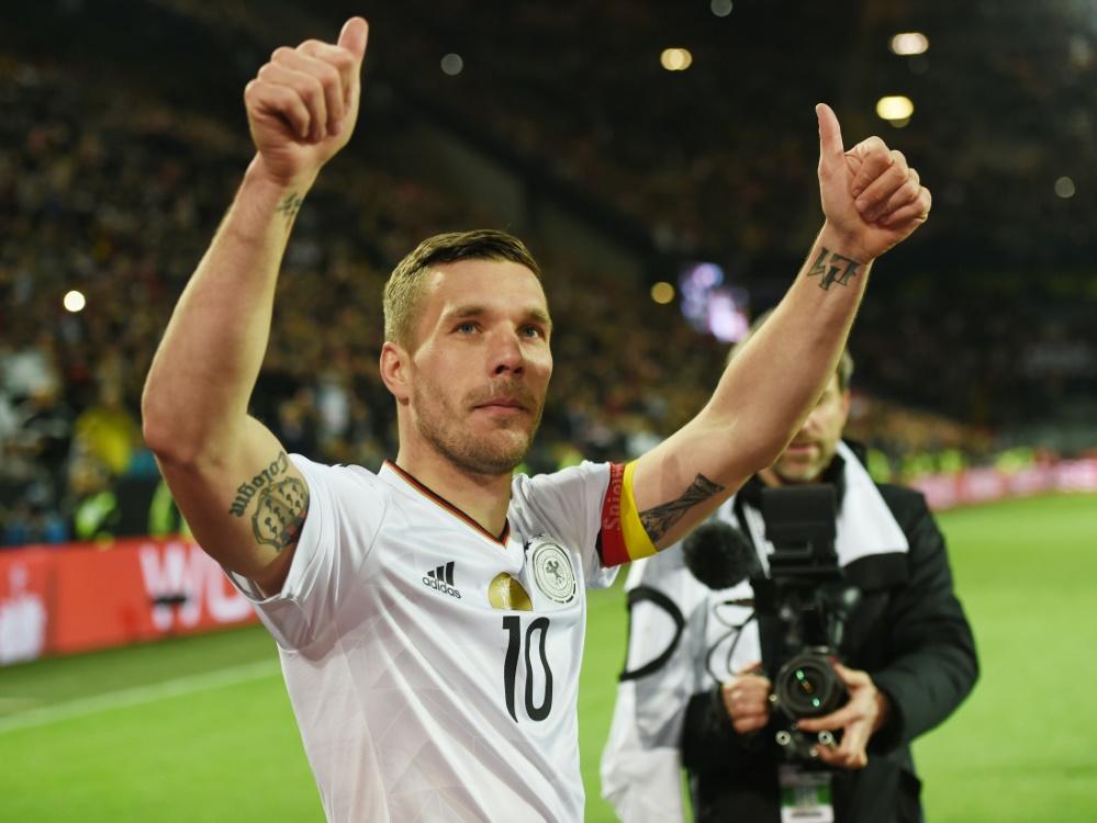 Podolski absolvierte 130 Länderspiele für Deutschland. ©SID PATRIK STOLLARZ