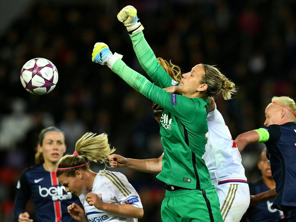 Fehlt gegen England im Tor: Ann-Katrin Berger. ©SID FRANCK FIFE