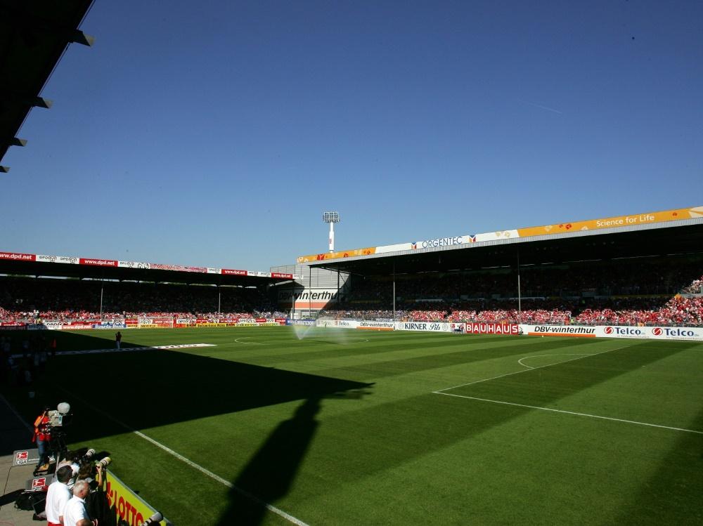 Schauplatz des Mainzer Testspiels: das Bruchwegstadion. ©FIRO/SID