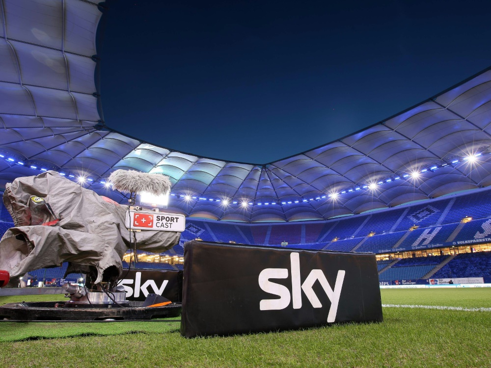 Der Pay-TV-Sender Sky verzeichnet Rekordzahlen . ©FIRO/SID