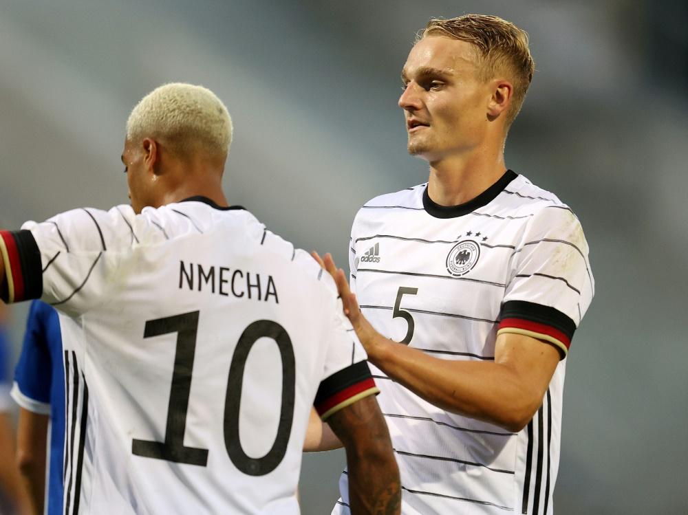 Sieg dank Hacken-Treffer: U21 greift nach EM-Ticket. ©FIRO/SID