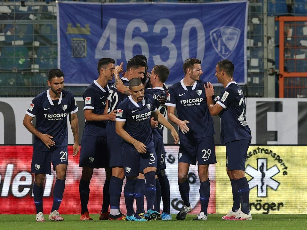 Der VfL Bochum bezwingt Erzgebirge Aue 2:0. ©FIRO/SID