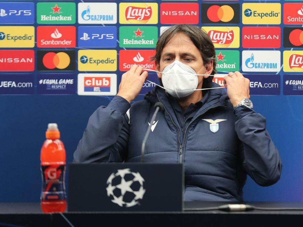 Simone Inzaghi kann in Brügge mit nur 16 Spielern planen. ©SID BRUNO FAHY